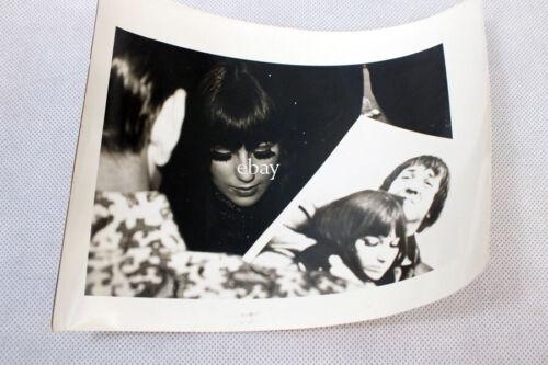 Vintage Cher Candid Photograph Black & White Eyelashes Sonny Photo 7 x 5