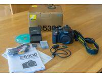 Nikon D5300 DSLR Camera Body. 24 megapixels. Only 3,138 shutter count. Boxed as new.