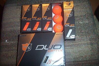 1 dz BRAND NEW Wilson Staff Duo Optix golf balls matte orange Chicago Bears logo (Bear Balls)