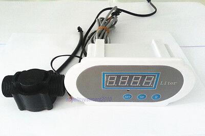 New 12 Water Flow Meter Digital Led With Hall Flow Sensor 12v Auto Flow Cutoff