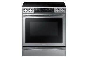 Samsung Slide-In Stainless Steel Induction Range on Sale | Samsung NE58K9560WS Induction Stoves (BD-790)