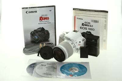 Used Canon EOS Rebel SL1 with 18-55mm f/3.5-5.6 IS STM Lens (White)