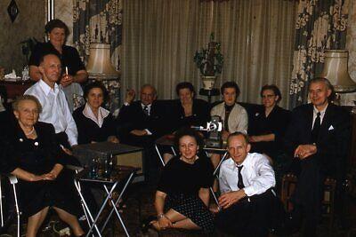 1950s Mens Suits & Sport Coats   50s Suits & Blazers Kodak Slide 1950s Red Border Kodachrome Women in Black Men in Suits Formal Party $21.99 AT vintagedancer.com