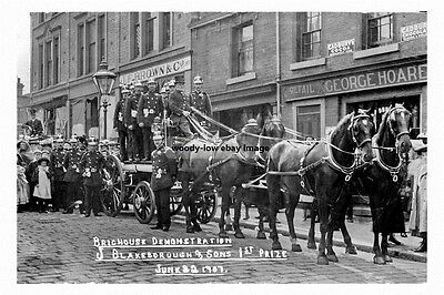 pt1246 - Brighouse Fire Brigade , Yorkshire - photo 6x4