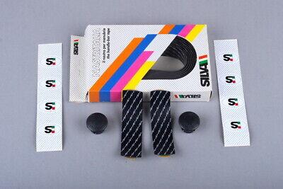 NOS - Black Vintage Plastic Handle Bar Tape with Bar Plugs Set x 2 sets