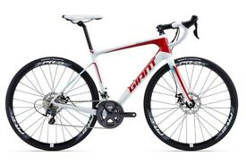 Giant Defy Advanced 1 Carbon Road Bike 58CM Size L white/red 2016 not Specialized Trek Cannondale