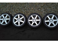 """17"""" rims / winter tyres from a Toyota Celica"""