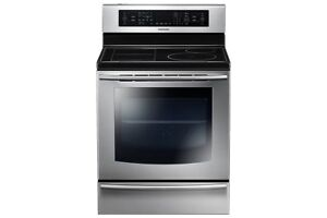 Samsung Induction Range Dual Oven w/ Warming Drawer NE599N1PBSR