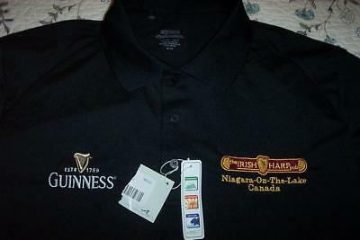 NWT GUINNESS BEER IRISH HARP PUB NIAGARA ON THE LAKE POLO GOLF SHIRT MENS (Lake Golf Shirt)