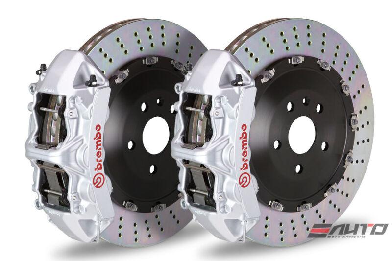 Brembo Front Gt Brake 6pot Caliper Silver 405x34 Drill Disc Porsche 970 Panamera