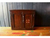 Vintage wooden medical cabinet