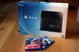 Sony PlayStation 4 500GB console (boxed with all accessories) includes 2 games
