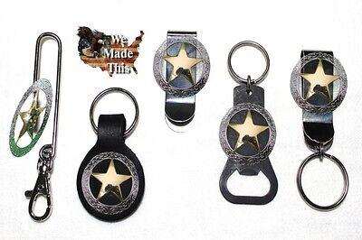 Lone Star Texas Ranger Concho & Bottle Opener Key Fob Key Holder or Money Clip  ()