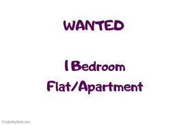 Wanted! 1 Bedroom Flat/Apartment/House to Rent
