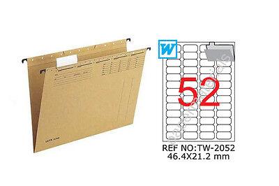 TANEX TW-2052 Wiederablösbare Etiketten weiß runde Ecken 25 Bl. A4 46,4x21,2 mm