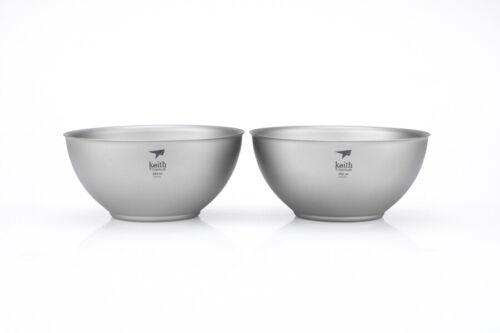 Keith Titanium Ti5351 Double-Wall Bowl - 8.5 fl oz (Set of 2)