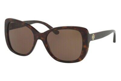 Tory Burch Sunglasses TY7114 1378/T5 53 Dark Tortoise w/Brown Polarized Lens (Tory Burch Polarized Sunglasses)