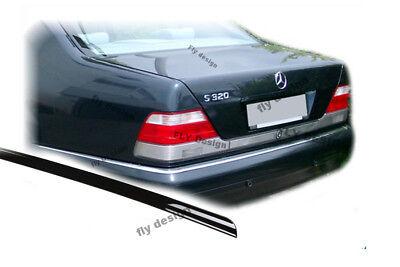 Mercedes S Klasse W140 Heckspoilerlippe SCHWARZ GLANZ Abrisskannte Spoiler Apron