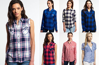 Women's Superdry Shirts in Various Styles