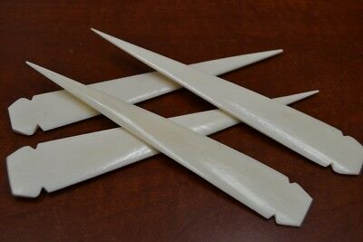 Bone Spear - 4 PCS BUFFALO BONE SPEARHEAD SPEAR POINT ARROWHEAD 7
