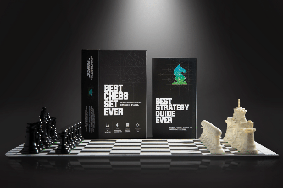 Best Chess Set Ever II - Chess Board Game with Triple Weight