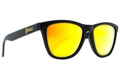 Status Schirm Polarisiert Solid Schwarz Geschmiedeter Gold der Steg Sonnenbrille