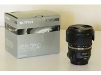 Tamron SP 24-70 F/2.8 Di VC USD A007E Zoom Lens Canon EF Fit