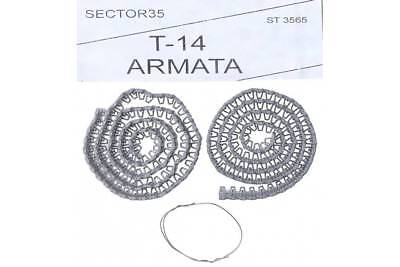 """Sector35 3565-SL Assembled metal tracks for T-14 """" Armata """" tank - 1/35 scale"""