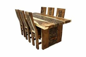 Six Seater Coin Dining Table