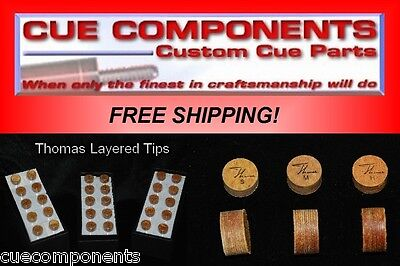 Thomas Cue Tip (12Tips) Pool Cue Components Building Supply Repair FREE SHIPPING