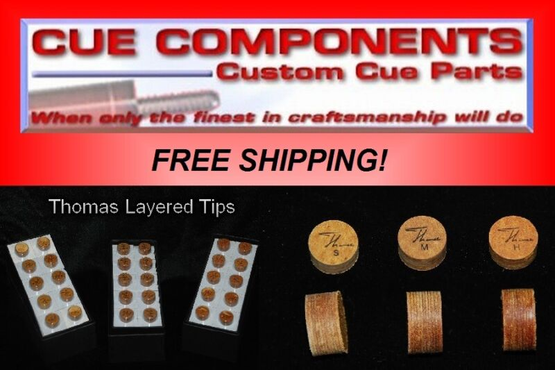 Thomas Cue Tip (5Tips) Pool Cue Components Building Supply Repair FREE SHIPPING
