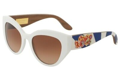 DOLCE & GABBANA SICILIAN CARRETTO WHITE SUNGLASSES DG4278 - ITALY - Authentic!