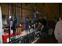 Fishing Rods & Reels for sale at the East Hants Indoor Boat Jumble Sunday 6th November