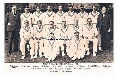rp16291 - New Zealand Cricket Team 1937 - photo 6x4