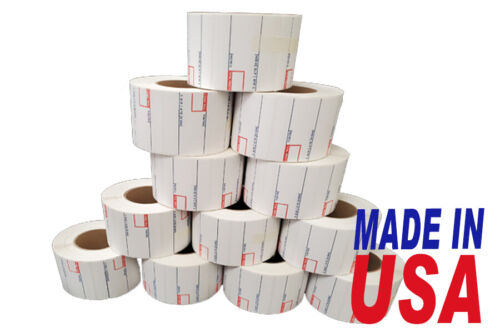 CAS 8010 Printing Scale Label, 58 x 40 mm, UPC12 Rolls Per Case Made in USA