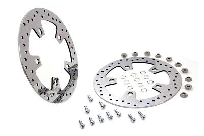 """11.8"""" Polished Front Brake Rotor Set for FLT 2014-UP Harley Davidson motorcycles"""