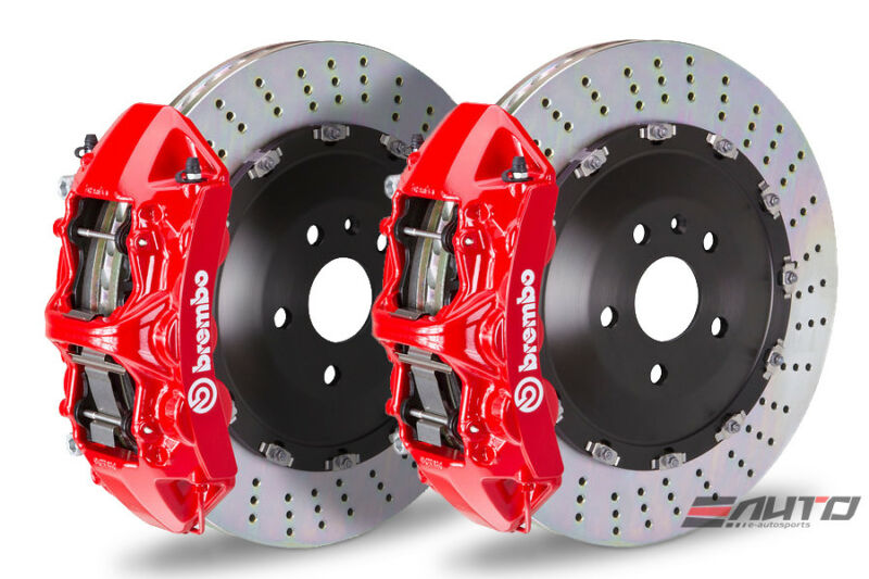 Brembo Front Gt Bbk Brake 6pot Caliper Red  405x34 Drill Disc Range Rover 10-12