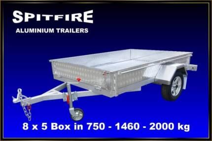 Box Trailer 8x5 Aluminium