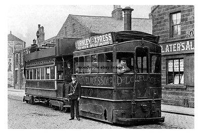 pt0705 - Steam Tram , Burnley , Lancashire - photo 6x4