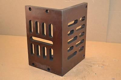 """Interstate 12"""" x 9"""" x 8"""" Cast Iron Partially Machined Slotted Angle Plate 001440"""