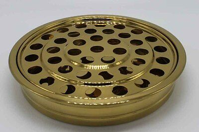 Brass Tone ---5 Stainless Steel Communion Tray set Brass Tone Communion Tray