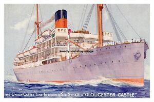 rp14636 - Union Castle Liner - Gloucester Castle - photo 6x4