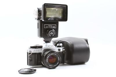 Used Canon AE-1 Program SLR 1984 Olympics Camera Outfit w/Lens, Flash, Cap & ...