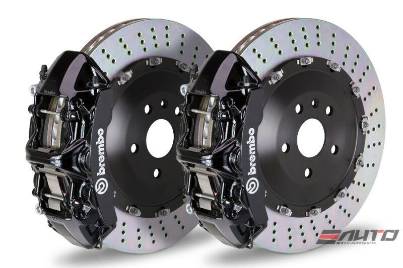 Brembo Front Gt Brake 6pot Caliper Black 405x34 Drill Disc Bmw E70 F15 X5 E71 X6