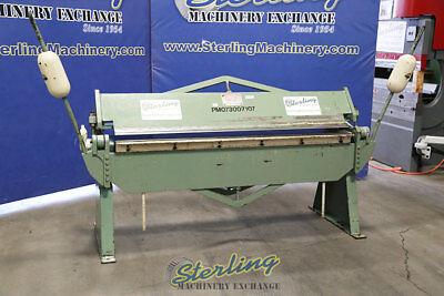 12 Ga. X 6 Used Chicago Manual Leaf Brake Sb-612 A4565