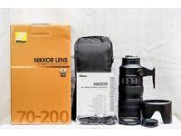 Nikon 70-200mm f2.8 G ED VR II nikkor lens for FX DX DSLR cameras like d5 d4 d3 d3s d500 d750 d810