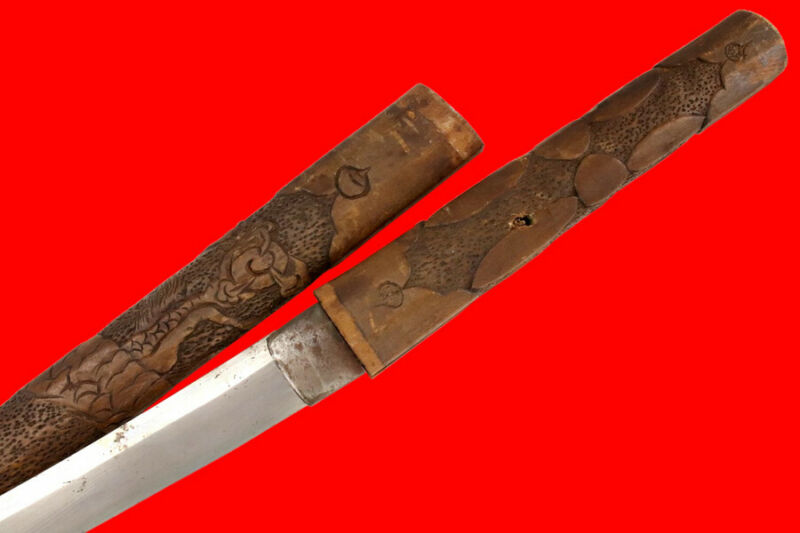 "Massive 29"" Nagasa Koto era Japanese Samurai Katana Sword in Fancy Old ShiraSaya"