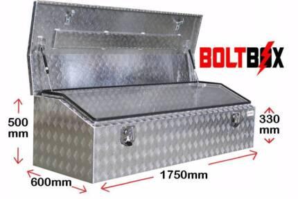 Aluminium Toolbox-Low Profile-L1750 x D600 x H500 - 2.5mm Plate