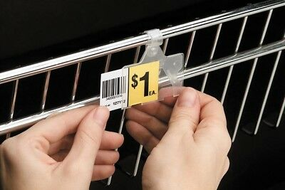 Wire Shelf Basket Tags Clipon Holders Label Upc -covered Price Tag Holder-25