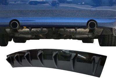glanz SCHWARZ lackiert Diffusor blende für Mercedes-Benz GLC Coupe flap splitter